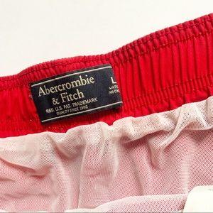 Abercrombie & Fitch Swim - Abercrombie & Fitch• red chubby style swim trunks
